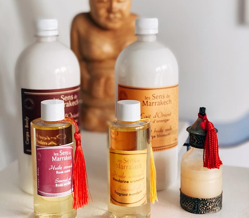 huiles sensuelles le sens de marrakech à la tour-du-crieux